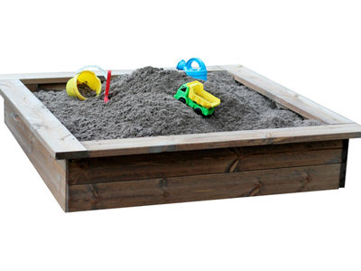 Jämerä hiekkalaatikko, 120 x 120 cm